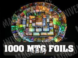1000 MTG FOILS Magic The Gathering ALL FOILS ONLY! Mint