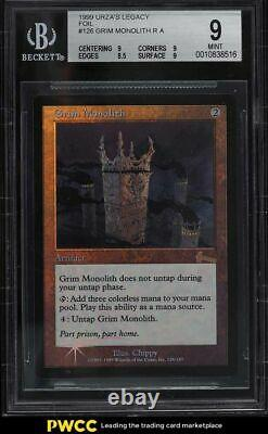 1999 Magic The Gathering MTG Urza's Legacy Foil Grim Monolith R A BGS 9 MINT