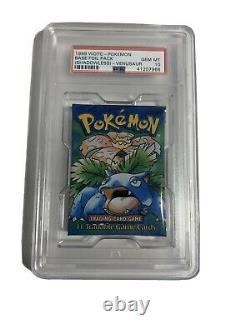 1999 Pokemon Base Set Shadowless Foil Booster Pack VENUSAUR PSA-10