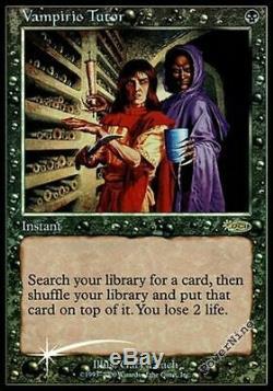 1 PROMO PLAYED FOIL Vampiric Tutor Black Judge Mtg Magic Rare 1x x1
