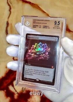 1st Jeweled Lotus Bgs 9.5 Gem Mint! Psa 10 Extended Art Foil Mtg Magic Rare