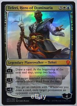 1x FOIL Teferi, Hero of Dominaria Near Mint Magic mythic legend planeswalker x1
