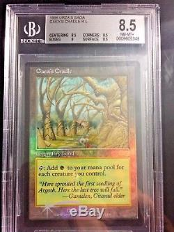 1x GAEA'S CRADLE JUDGES FOIL GRADED NM-MINT8.5 Rare! Urza's Saga EDH MTG Magic
