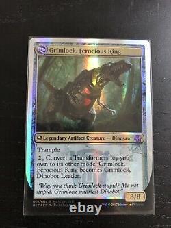 1x Grimlock, Dinobot Leader / Ferocious King Hascon Exclusive MTG Magic LP-NM