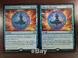 2X MTG FOIL Force of Negation Modern Horizons Rare BLUE Instant 2X NM/M