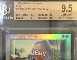 Academy Rector FOIL BGS 9.5 GEM MINT Urzas Destiny MTG Vintage Legacy MTG
