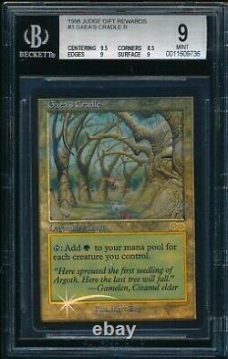 Bgs 9 Gaea's Cradle Foil 1998 Magic The Gathering Mtg #321 Promo Judge Rare Mint