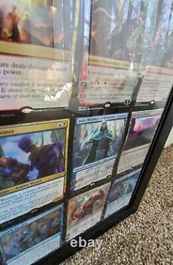 CUSTOM FRAMED Magic/MTG War of the Spark Uncut Foil Card Sheet Rare/Mythic Rare