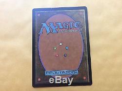 Crimped Japanese Foil RISHADAN PORT Misprint MTG Magic Card Vintage inked at top