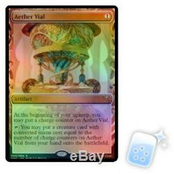 FOIL AETHER VIAL Masterpiece Series Kaladesh Inventions Magic MTG MINT CARD