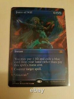 FOIL Borderless Force of Will MTG Double Masters 2XM PACK FRESH