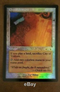 FOIL City of Traitors Exodus Test Print MTG Magic