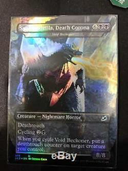 FOIL English Spacegodzilla, Death Corona Ikoria Void Beckoner Godzilla MTG MINT