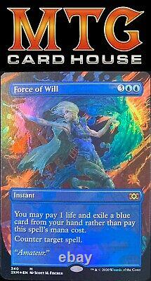 Foil Force of Will Showcase / Borderless MTG Double Masters Pack Fresh
