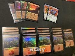 Foil Modern 8 Whack Goblin Deck cards (Goblin Guide Lightning Bolt, Bushwacker)