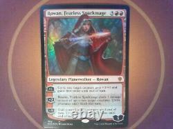 Foil Rowan, Fearless Sparkmage Throne of Eldraine Magic the Gathering mtg