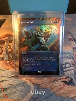 Force of Will Foil Borderless Double Masters VIP MTG
