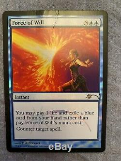 Force of Will Judge Promo Foil Has a Crease MTG Magic the Gathering