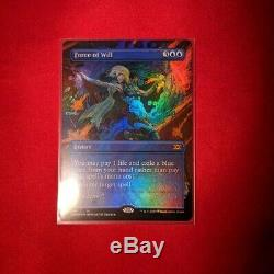 Force of Will, SHOWCASE FOIL, Double Masters, MTG, Mint UNPLAYED Pack Fresh