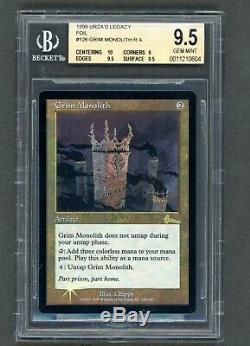 Grim Monolith Foil BGS 9.5 basic+, Mint, Urza's Legacy, MTG, Magic the Gathering
