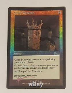 Grim Monolith NM-M FOIL Urza's Legacy MTG Unplayed