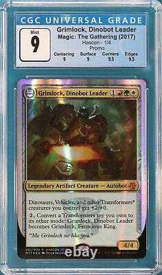 Grimlock, Dinobot Leader (HASCON 2017) FOIL Promo GRADED CGC 9 MINT (599049)