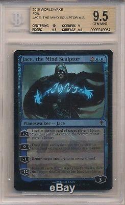 Jace, the Mind Sculptor WORLDWAKE FOIL BGS 9.5