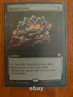 Jeweled Lotus FOIL EXTENDED ART (NM) Commander Legends MTG pack fresh
