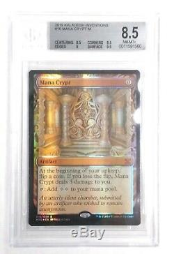 Kaladesh Inventions Complete Bgs Foil Masterpiece Set Mana Crypt 8.5 Mn Mint