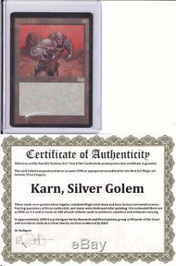 Karn, Silver Golem Textless Foil Test Print Mtg Magic The Gathering