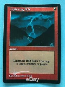 MTG 1 x Foil Lightning Bolt (Promo) Magic The Gathering (No reserve)