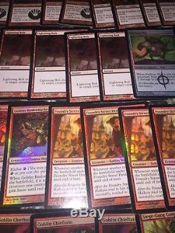 MTG ALL FOIL Modern Goblins 60 Card Goblin Deck FOIL BURN FOIL LOT