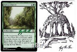 MTG Artist Proof Sylvan Library Sketched, Foil