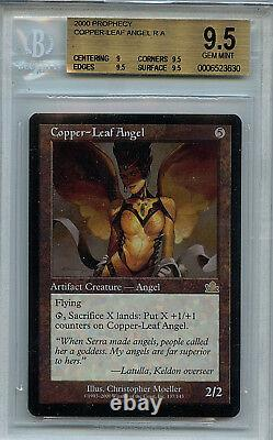 MTG Copper Leaf Angel BGS 9.5 Gem Mint MTG Prophecy card Amricons 3630