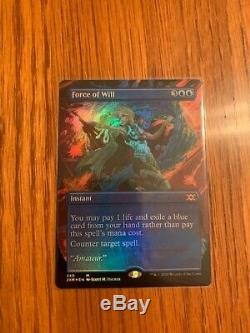MTG DOUBLE MASTERS FORCE OF WILL SHOWCASE FOIL! Borderless