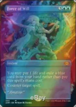 MTG Double Masters Force of Will Showcase FOIL Preorder 8/7/20 Near Mint