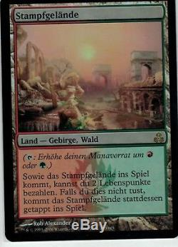 MTG FOIL GERMAN Stomping Ground Guildpact Rare