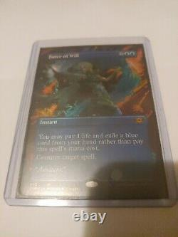 MTG / Force of Will / SHOWCASE FOIL / Double Masters / Boarderless