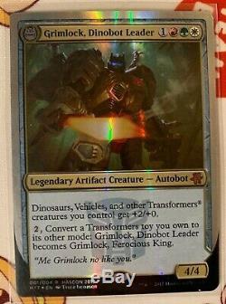 MTG Grimlock, Dinobot Leader Magic Hascon promo NM foil Magic EDH Commander RAAR