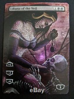 MTG Hand Painted Alter Liliana of the Veil FOIL