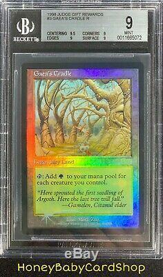 MTG Judge Promos 1998 Gaea's Cradle BGS 9.0Q+ (Quad+) Mint Foil Ultra Rare Pop 5