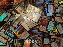 MTG Just Foils Lot of 100 NO DUPLICATES! Magic the Gathering /w 5 Foil Rares