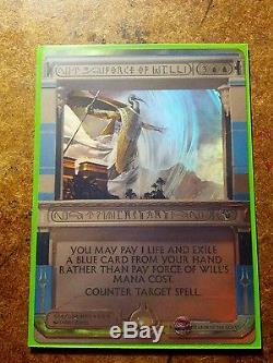 MTG Magic AMONKHET FOIL Masterpiece Invocation FORCE OF WILL NEVER PLAYED