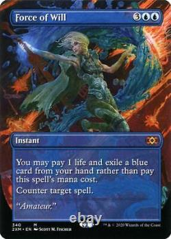 MTG Magic (M) Double Masters Force of Will Borderless FOIL NM/M