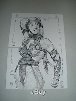 MTG Magic Signed Artist Proof Foil Unmask x4 (with Star Wars Sketch) FTV LP-NM
