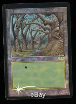 MTG Magic Urza's Saga Misprint Textless Foil Gaea's Cradle