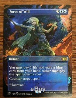 MTG Magic the Gathering Double Masters Force of Will Borderless Foil NM/M