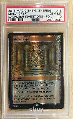MTG Magic the Gathering MANA CRYPT Kaladesh Inventions Foil PSA 10