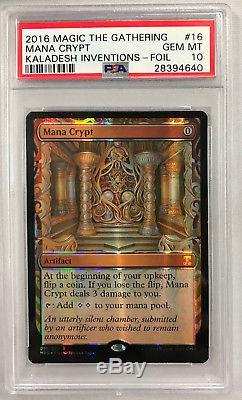 MTG Magic the Gathering MANA CRYPT Kaladesh Inventions Foil PSA 10 GEM MT