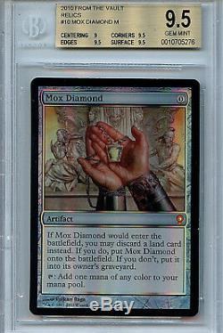 MTG Mox Diamond BGS 9.5 Gem Mint FTV Relics Magic Mystic Foil Amricons 5276